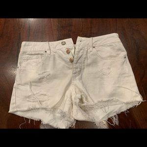 Cut off High rise jean shorts